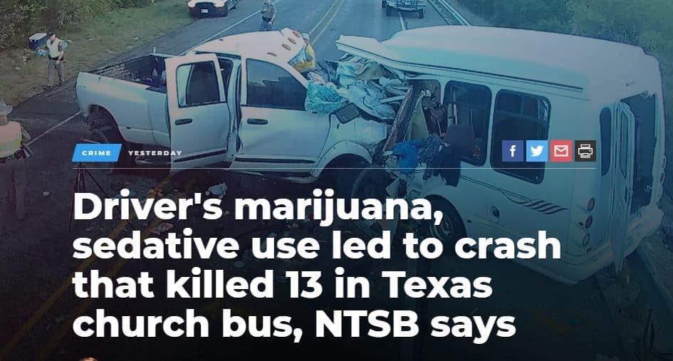 Drugged Driver Kills 13 in Church Bus